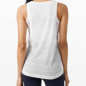 Lululemon Clear and Present muscle tank *white